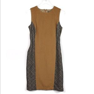 J. McLaughlin 4 Tweed Wool Sleeveless Shift Dress